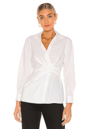 ALLSAINTS Alicia Shirt in White. Size 00,2,4,6,8.