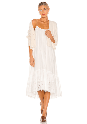 ALLSAINTS Paola Cotton Dress in White. Size 2,4,6,8.