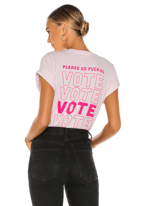 Lovers + Friends Lovers and Friends Go Vote Tee in Pink. Size M,S,XL,XS,XXS.