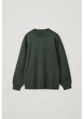RELAXED-FIT KNITTED SWEATSHIRT