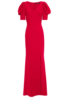 Badgley Mischka Gathered Stretch-crepe Gown Woman Claret Size 4