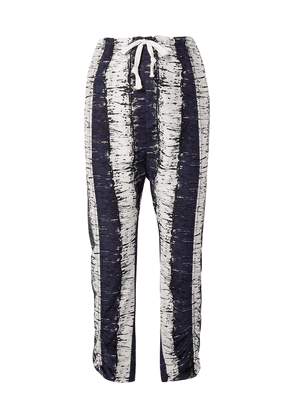 By Malene Birger Delma Printed Cotton And Silk-blend Pants Woman Navy Size 36
