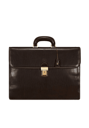Maxwell Scott Bags Mens Fine Quality Leather 17-inch Laptop Briefcase