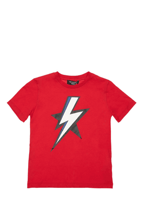 Thunder Print Cotton Jersey T-shirt
