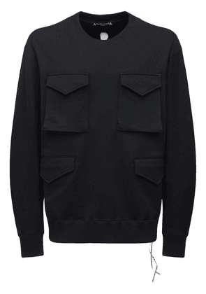 Cotton Sweatshirt W/ Cargo Pockets