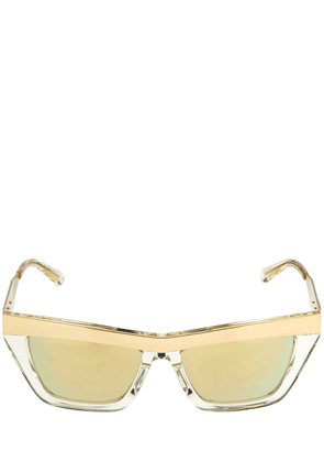 Squared Metal & Acetate Sunglasses
