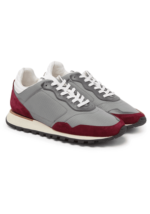 Dunhill - Axis Ripstop, Suede and Leather Sneakers - Men - Gray