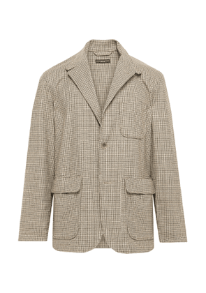 Engineered Garments - Loiter Checked Woven Blazer - Men - Brown