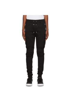 Balmain Black Raw Edge Lounge Pants