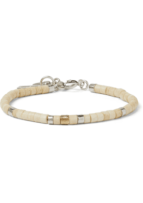 Isabel Marant - Silver-Tone and Bone Beaded Bracelet - Men - Neutrals