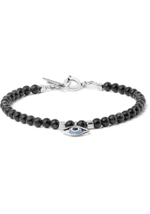 Isabel Marant - Stone, Silver-Tone and Enamel Bracelet - Men - Gray