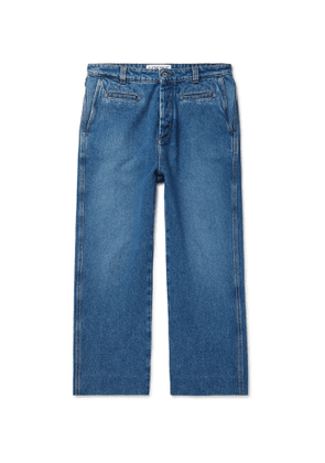 Loewe - Wide-Leg Cropped Denim Jeans - Men - Blue