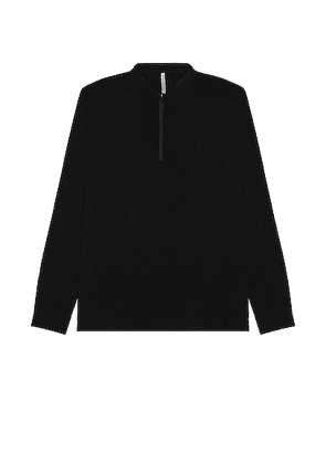 Veilance Frame LS Polo in Black - Black. Size S (also in XL).