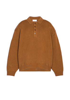 Fear of God Exclusively for Ermenegildo Zegna Polo Shirt in Vicuna - Orange. Size 44 (also in 48).