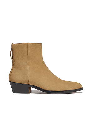 Fear of God Exclusively for Ermenegildo Zegna Suede Leather Texan Boot in Camel - Neutral. Size 10 (also in 11,12,8,9).
