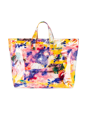 Comme Des Garcons SHIRT Futura Print Tote Bag in Print C - Abstract,Purple,Yellow. Size all.
