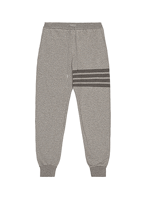 Thom Browne 4 Bar Loopback Sweatpants in Medium Grey - Gray. Size 0 (also in 1,2,3,4).