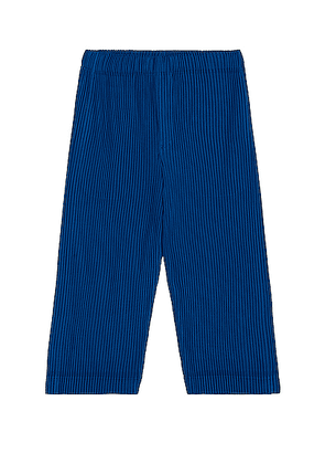 Homme Plisse Issey Miyake Colorful Pleat Crop Straight Pant in Deep Blue - Blue. Size 2 (also in 3).