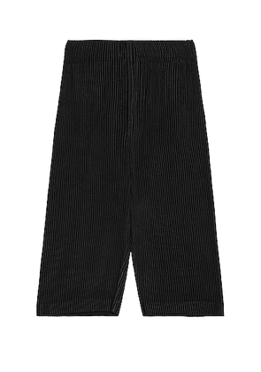 Homme Plisse Issey Miyake MC August Crop Wide Pant in Black - Black. Size 2 (also in 3).