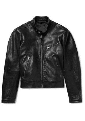 TOM FORD - Slim-Fit Leather Biker Jacket - Men - Black