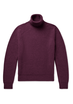 TOM FORD - Ribbed Cashmere Rollneck Sweater - Men - Burgundy