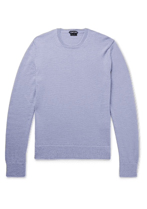 TOM FORD - Slim-Fit Alpaca and Silk-Blend Sweater - Men - Purple