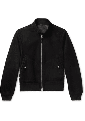 TOM FORD - Suede Bomber Jacket - Men - Black