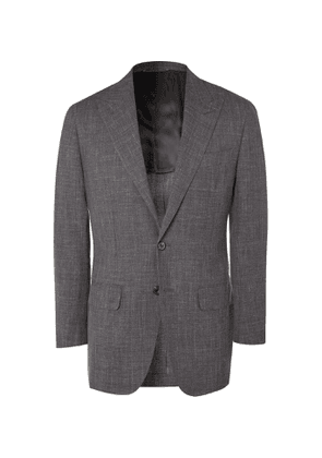 Thom Sweeney - Unstructured Wool, Silk and Linen-Blend Suit Jacket - Men - Gray