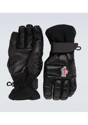 Technical logo gloves