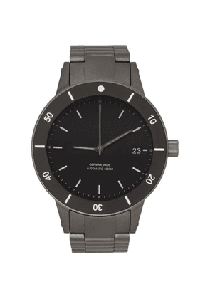 Instrmnt Black and Silver Dive Watch