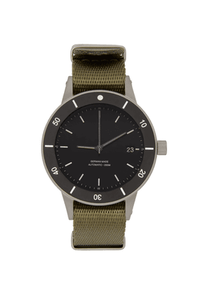 Instrmnt Black and Khaki Webbing Dive Watch