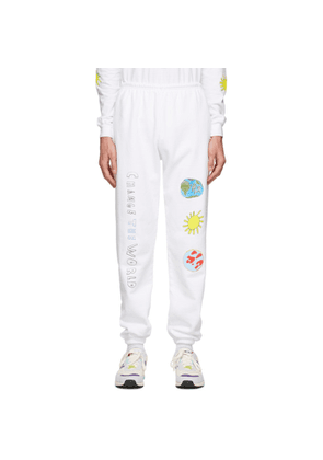 Kids Worldwide White Change The World Lounge Pants