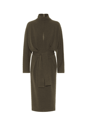 Belted cashmere sweater dress