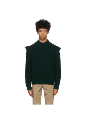 Isabel Marant Green Cashmere and Wool Pavel Sweater