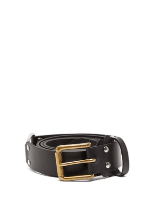 Charles Jeffrey Loverboy - Collage Studded Leather Belt - Womens - Black Multi