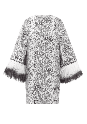 Andrew Gn - Embellished-cuff Metallic Fil-coupé Mini Dress - Womens - Silver