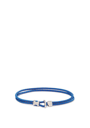 Miansai - Orsan Rope-cord And Sterling-silver Bracelet - Mens - Blue