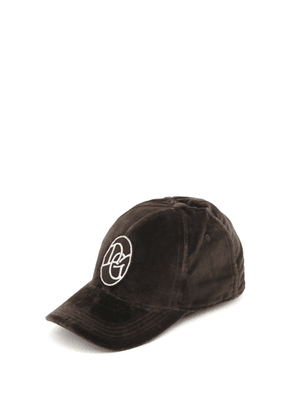 Dolce & Gabbana - Logo-patch Cotton-velour Cap - Mens - Brown