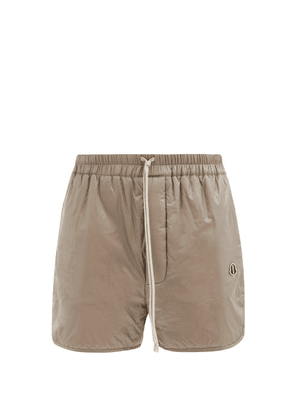 Moncler + Rick Owens - Logo-patch Padded-shell Shorts - Mens - Grey