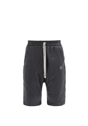 Moncler + Rick Owens - Logo-patch Padded-shell Bermuda Shorts - Mens - Black
