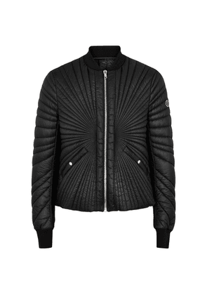 Rick Owens X Moncler Angle Black Quilted Shell Jacket
