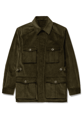 Anderson & Sheppard - Cotton-Corduroy Jacket - Men - Green