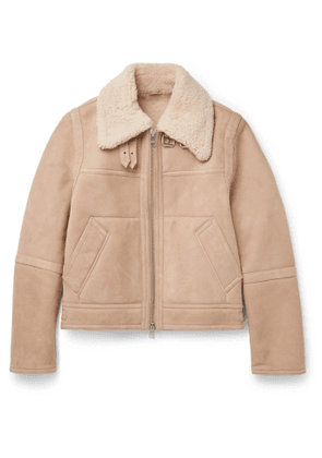 AMI - Shearling Jacket - Men - Neutrals