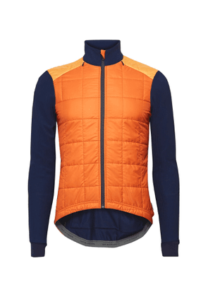 Cafe du Cycliste - Léonie Knit and Quilted Shell Jacket - Men - Orange
