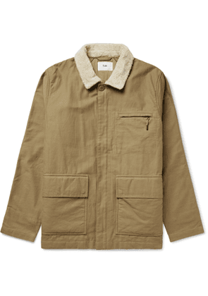 Folk - Alber Fleece-Trimmed Cotton Jacket - Men - Brown