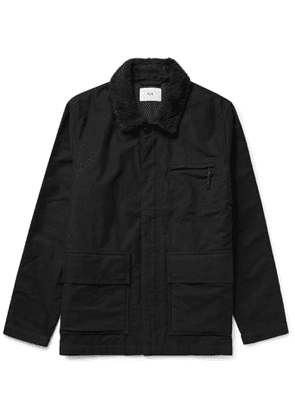Folk - Alber Fleece-Trimmed Cotton Jacket - Men - Black