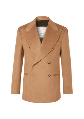 Giuliva Heritage - Stefano Double-Breasted Camel Hair Blazer - Men - Brown