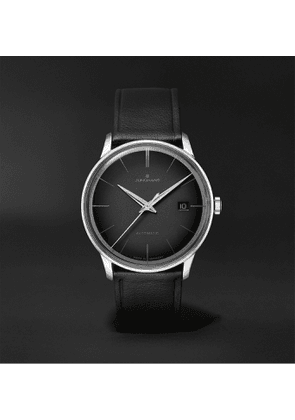 Junghans - Meister Automatic 38mm Stainless Steel and Leather Watch, Ref. No. 027/4051.00 - Men - Black