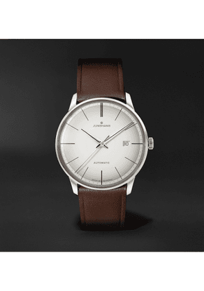 Junghans - Meister Automatic 38mm Stainless Steel and Leather Watch, Ref. No. 027/4050.00 - Men - White
