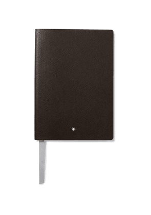 MONTBLANC - 146 Cross-Grain Leather Notebook - Men - Brown